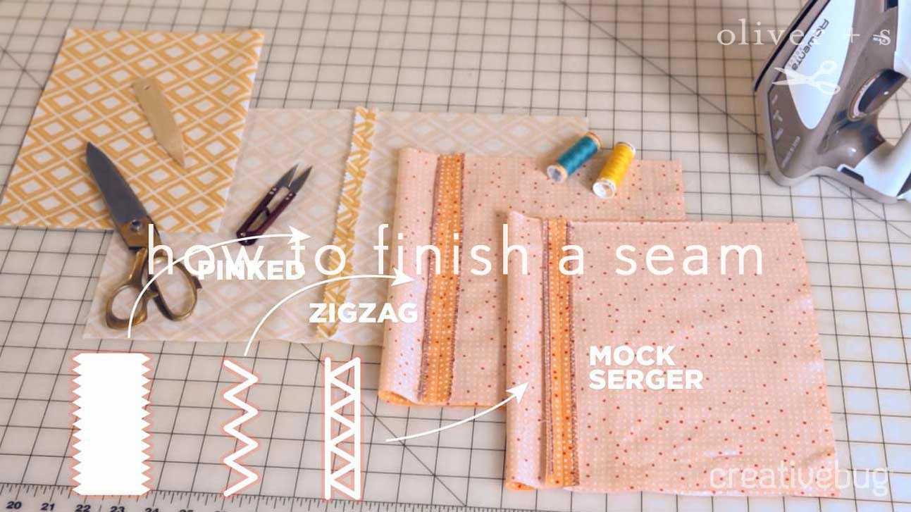 How to Finish a Seam | Free Sewing Videos | Oliver + S